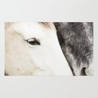 horses Area & Throw Rugs featuring Horses by MarianaLage