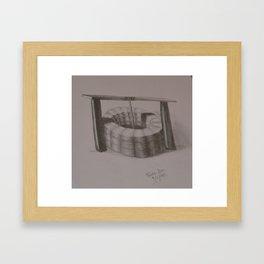 Water Well Framed Art Print