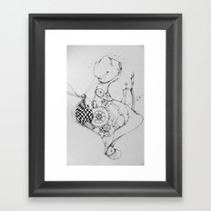 time victim Framed Art Print