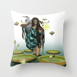 GUARDIAN AND HERON Throw Pillow