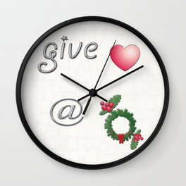Give Love At Christmas Wall Clock