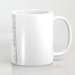 Minimal birches Coffee Mug