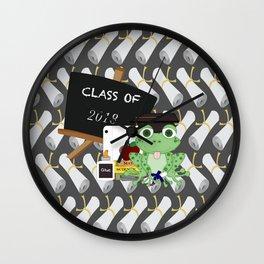 Graduations Diplomas And Frog Wall Clock