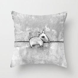Dog No.1r by Kathy Morton Stanion Throw Pillow
