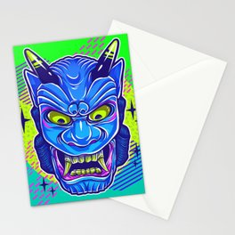 Neon Noh - Ao Oni Stationery Cards