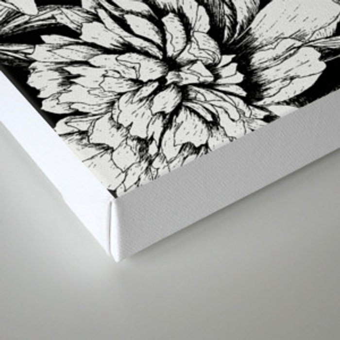 FLOWERS IN BLACK AND WHITE Canvas Print