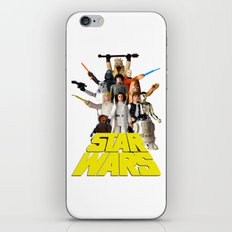 Star War Action Figures Poster - First 12 iPhone & iPod Skin