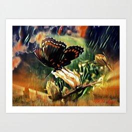Butterfly Summer Art Print