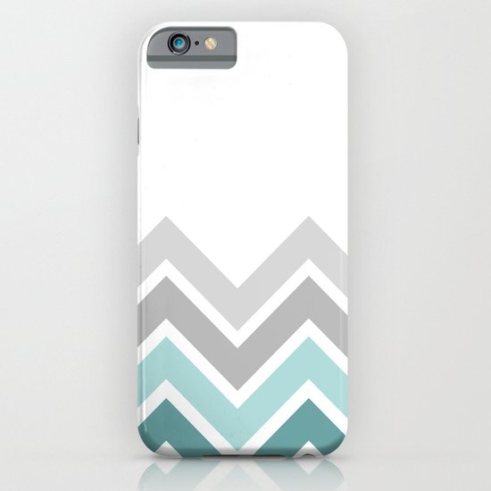 WHITE/ TEAL CHEVRON FADE iPhone & iPod Case