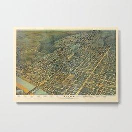 Map Of Austin 1887 Metal Print