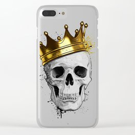 Royal Skull Clear iPhone Case