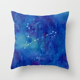 Constellation Pisces Throw Pillow