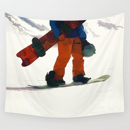 Ready to Ride! - Snowboarder Wall Tapestry