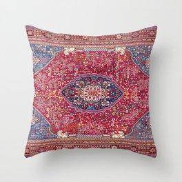 Qashqa'i  Antique Fars Persian Rug Throw Pillow