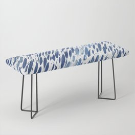 Boho Blue Brushstroke Bench