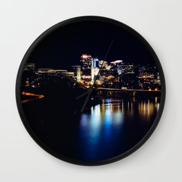 Rosslyn, Virginia reflecting in the Potomac River Wall Clock