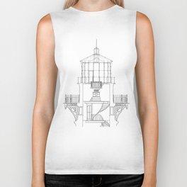 Cape Hatteras Lighthouse Lantern Room Blueprint Biker Tank