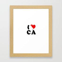 I Love CA Framed Art Print