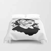 agnes Duvet Covers featuring Europa, Agnes and Phyllis by Anna Lisa Illustration