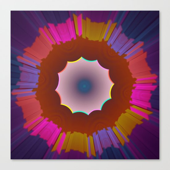 Colourful prismatic abstract Canvas Print