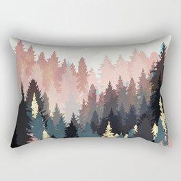 Spring Forest Light Rectangular Pillow