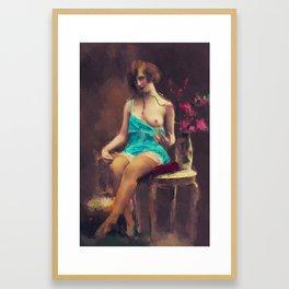 Vintage Nude by Mary Bassett Framed Art Print