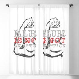Failure is not an option Blackout Curtain
