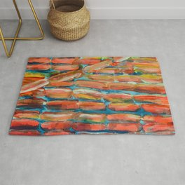 Coral Night of Sugarcane Rug