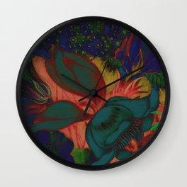 Retro Floral XIII Wall Clock