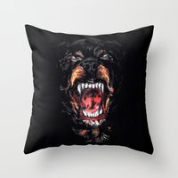 givenchy Throw Pillows featuring Givenchy Dog by I Love Decor