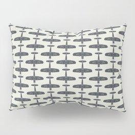 F4U Corsair - Sea Blue on Insignia White Pillow Sham