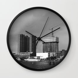 stormy waterfront Wall Clock