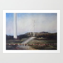 West Virginian Windmills Art Print