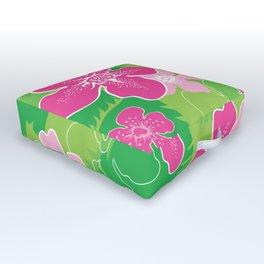 Pink and Green Hawaiian pattern Outdoor Floor Cushion