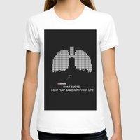 tetris T-shirts featuring Smoke Tetris by ArtSchool