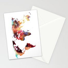 Colorful World Stationery Cards