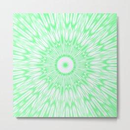 Seafoam Green Kaleidoscope Metal Print