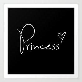 Princess Pillow Art Print
