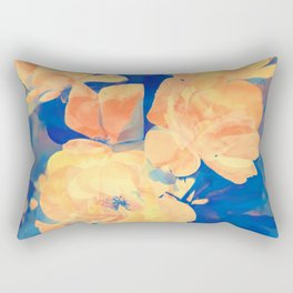 Country Floral Rectangular Pillow