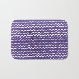 Abstract violet white watercolor geometrical chevron zigzag Bath Mat