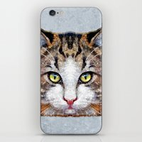 meow iPhone & iPod Skins featuring MEOW by Ancello