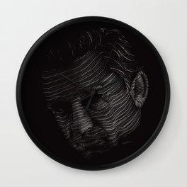 Johnny Cash Portrait Wall Clock