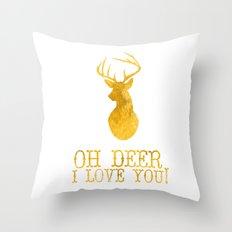 Oh Deer, I Love You Throw Pillow