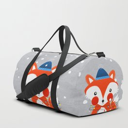 Christmas Fox with fairy lights Duffle Bag