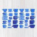Coffee Mugs and Tea Cups - A study in blues by sewzinski