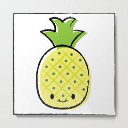 cute pineapple Metal Print