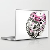 hockey Laptop & iPad Skins featuring Hockey mandrill  by Detullio Pasquale