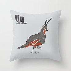 mountain quail Throw Pillow