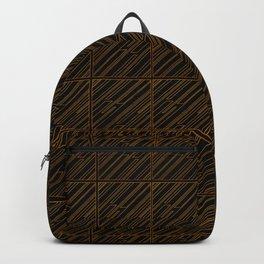 Art Deco Golden Lines Backpack