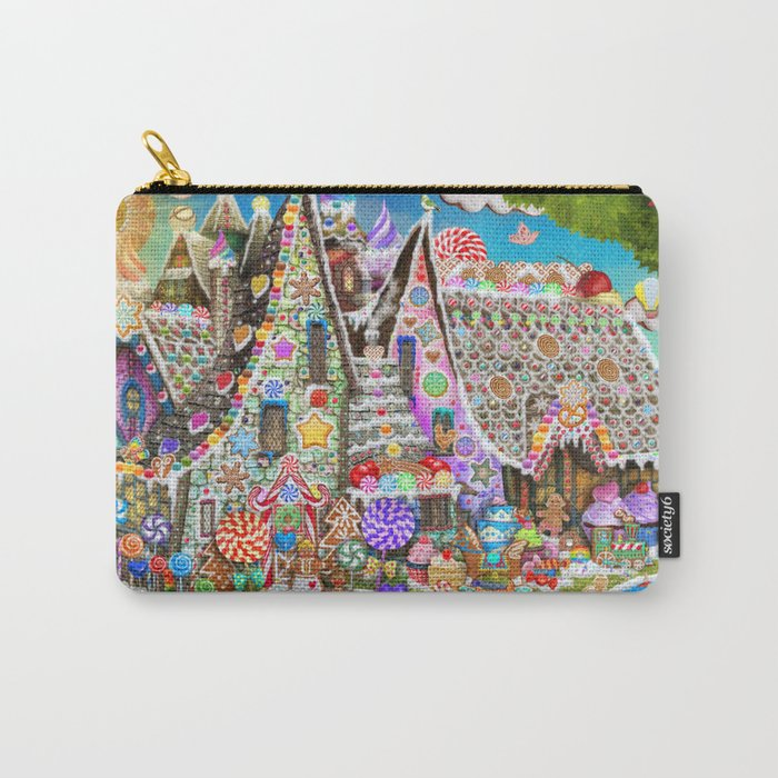 The Gingerbread Mansion Carry-All Pouch